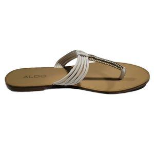 Aldo white and silver sandals Size 8.5